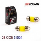 Лампа OPTIMA PREMIUM Festoon 28mm COB 5100k (1ШТ.)(c5w)
